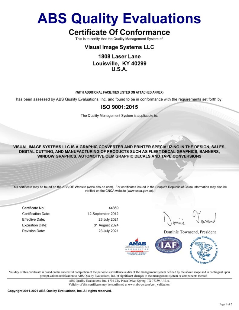 ISO 9001 2015 Page 1