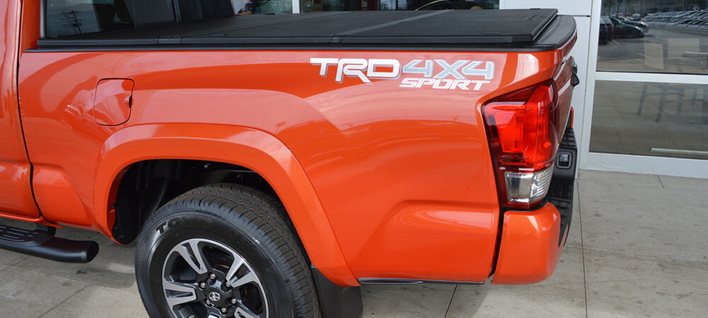 TRD 4X4 Sport Silver Graphic on Orange