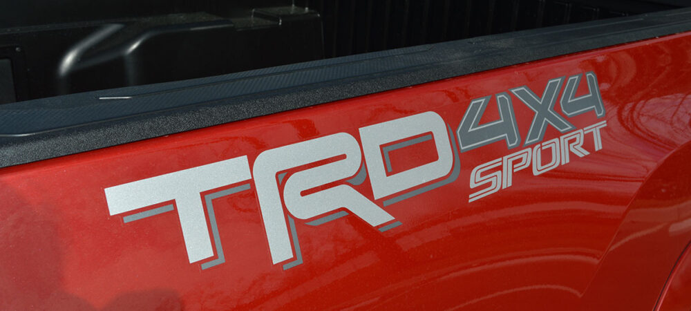 TRD 4X4 Sport Silver Graphic on Red